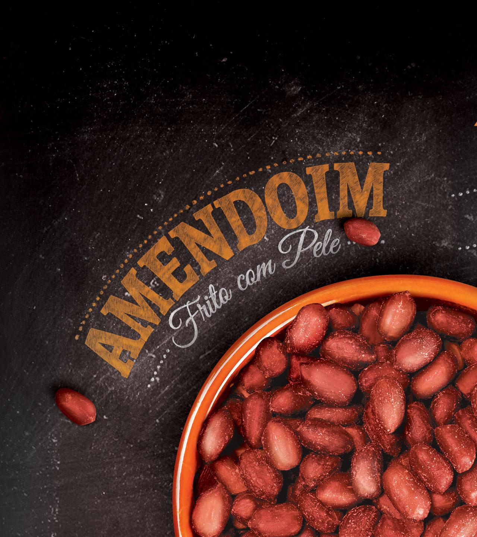 fotografia e typografia Amendoim Hikari