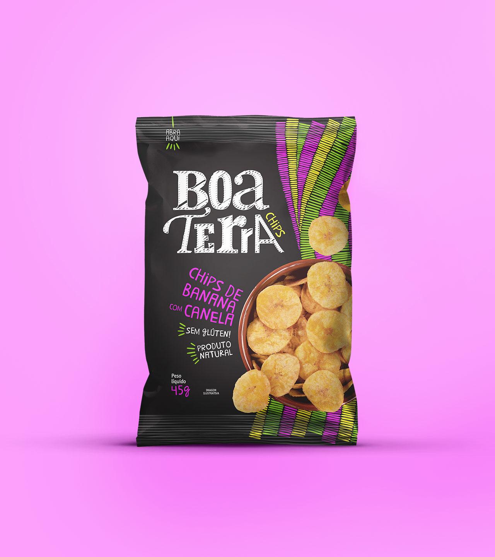 Embalagem Chips de Banana com Canela Boa Terra Chips