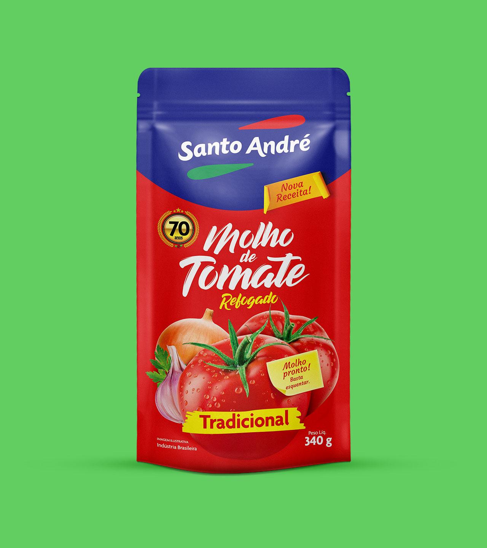 Embalagem Molho de Tomate Santo André