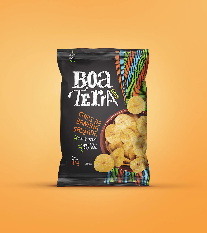 Embalagem Chips de Banana Salgada Boa Terra Chips