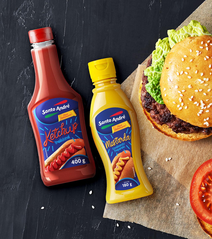 Embalagens Ketchup e Mostarda Santo André