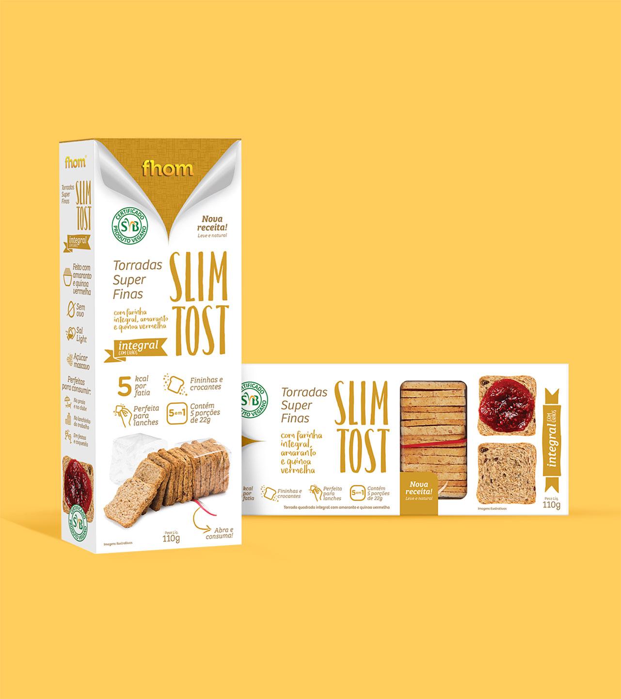 Embalagem premiada Slim Tost - Linha Padaria Fhom