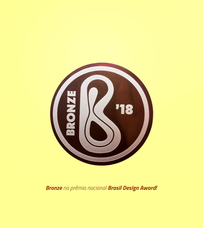 Bronze no prêmio nacional Brasil Design Award